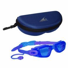 EELIC KAR-9100 BIRU Kacamata Renang Dengan Penutup Telinga