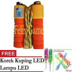 FG Jump Rope Lompat Tali Skipping Full Kombinasi +Gratis Korek Kuping LED +Lampu LED
