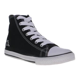 Kappa How Low Hi Sepatu Sneakers - Hitam-Putih