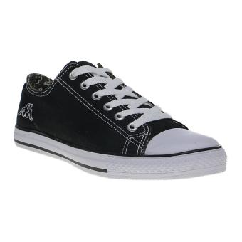 Kappa How Low Ox Sepatu Sneakers - Hitam-Putih