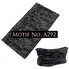 KMBuff Masker Serbaguna Motif Army Pixel A292