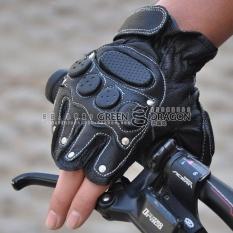 Kulit domba laki laki kebugaran sarung tangan sarung tangan sepeda gunung sarung tangan .