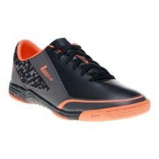 League Leviathan Sepatu Futsal - Hitam-Dark Gull Grey-Total O