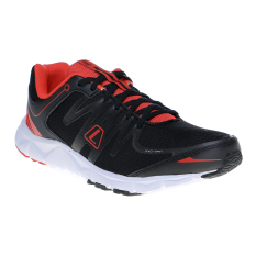 League New Volkov M Sepatu Lari - Hitam-High Risk Red-Putih