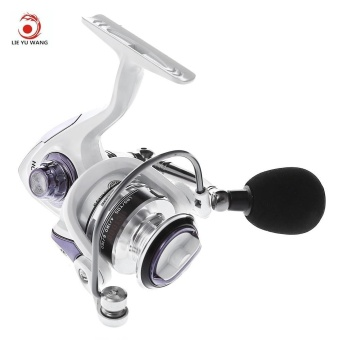 LIEYUWANG 13 + 1BB ( True 5 + 1BB ) Full Metal Fishing Spinning Reel With Exchangeable Handle (Pearl White) - intl