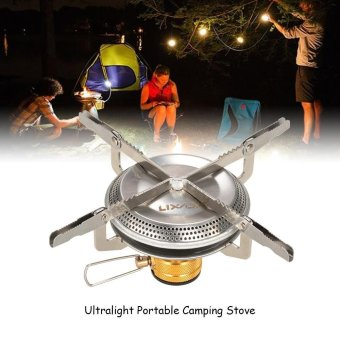 Lixada Ultralight Portable Outdoor Camping Gas Stove Hiking Backpacking Picnic Cooking Stove 3500W - intl