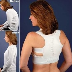 Makiyo Adjustable magnetic posture support corrector back pain brace belt(XL) - intl