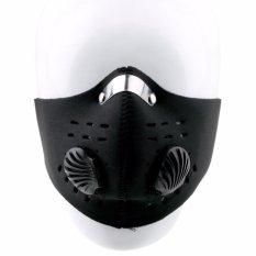Masker Motor Filter Anti Polusi - Hitam