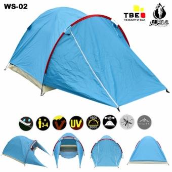 Matougui W002 Tenda Camping Hiking Dewasa Double Layer Kapasitas 3 / 4 Orang
