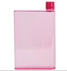 MemoBottle A5 Letter 420ml Botol Minum Memo Bottle Tipis Slim Thermos UNIK buku kotak hadiah - pink