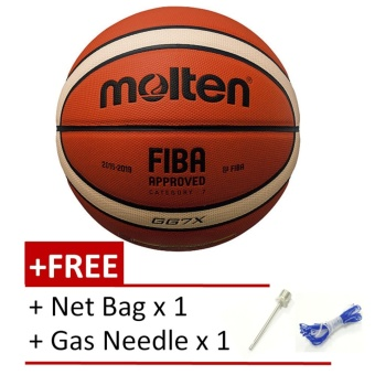 Molten BGG7X GG7X FIBA Approved Composite Leather Basketball Free Gas Needls and Net Bag - intl