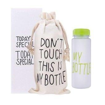 ... Emyli My Bottle Botol Minum Kaca Transparan 500 Ml Pink Price