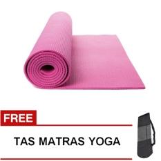Oranyejersey Matras Yoga Mat Flexflit 6MM - Pink + Tas
