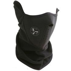 Ormano Masker Wajah Mulut Motor X-sports Pelindung Muka Pengendara Biker Touring Motorcycle Half Face Mask Sampai Leher Anti Polusi dan Asap - Hitam