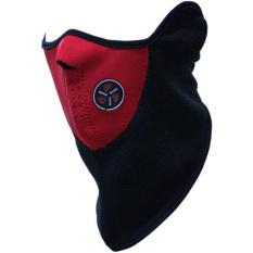 Ormano Masker Wajah Mulut Motor X-sports Pelindung Muka Pengendara Biker Touring Motorcycle Half Face Mask Sampai Leher Anti Polusi dan Asap - Hitam Merah