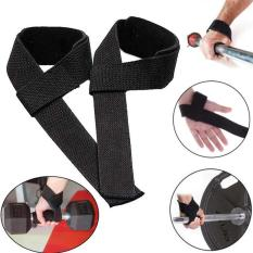 PAlight 1 pair Strips Wrist Support Weightlifting Gym Training Bodybuilding Wrist Guard Straps Wraps Brace Band Protector - intl