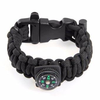 Gesper Source · Paracord Survival Bracelet with Magnesium Flint Fire Starter Compass Whistle .