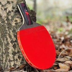 PELE Catatan Tingkat Karbon Raket Tenis Meja Ping Pong Dayung Kirim Tenis Meja (Red- 55-0.6)