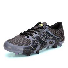 PINSV laki dan perempuan sepatu olahraga sepatu sepak bola (Hitam)