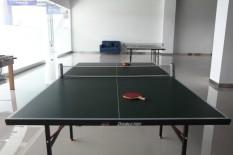 Portabel ditarik teleskopik rak jaring tenis meja Ping Pong Kit pengganti abu-abu - Internasional