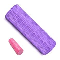 Practical Back Exercise Trigger Point Foam EVA Physio Foam Roller Yoga Pilates Popular Purple - intl