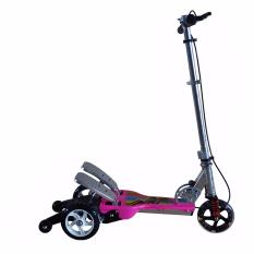 RMB Skuter Anak/Dual Pedal Besi/Scooter Injak /Skuter Otopet/Happy Alloy Pink