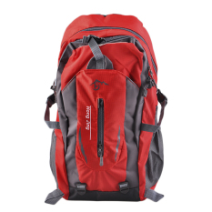 Selamat gunung 40 liter air tas bahu nilon adapula perjalanan Hiking ransel merah - International