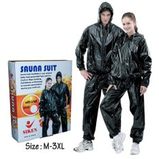 Siken Sauna Suit Black / Baju Sauna Siken Hitam / Baju Sauna Murah
