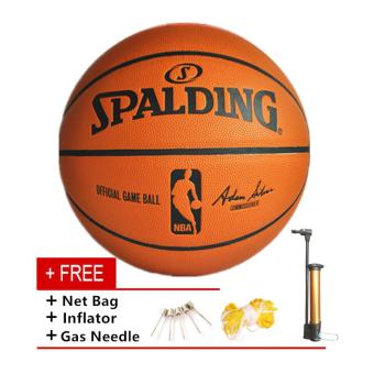Spalding Basketball Professional Size 7 Indoor Outdoor PU Leather Training Match Basketball - intl