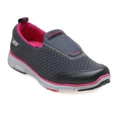 Spotec Dennis Sepatu Walking Shoes - Dark Grey-H.Pink