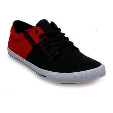 Spotec Edward Sepatu Sneakers - Hitam-Merah