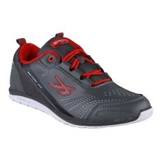 Spotec Move On Sepatu Sneakers Olahraga - Abu-Abu Tua/Oranye