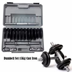Stamina Dumbell Set Cast Iron with Box [15 Kg] / Barbel Set Stamina Cast Iron 15Kg