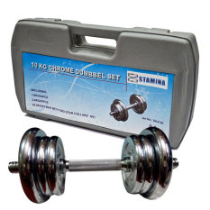 Stamina Dumbell Set Chrome with Box [10 Kg] / Barbel Set Stamina Chrome 10Kg