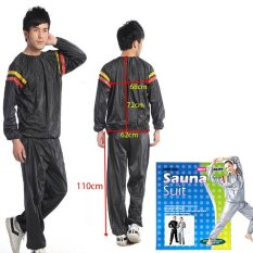 Unistar Sauna suit Unisex Black / Baju Sauna Murah / Setelan Sauna suit