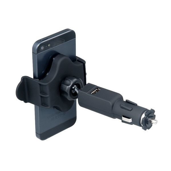 640 360 Degrees Rotatable Adjustable Car Stand with USB Port for Cell Phones GPS DVR (Black)