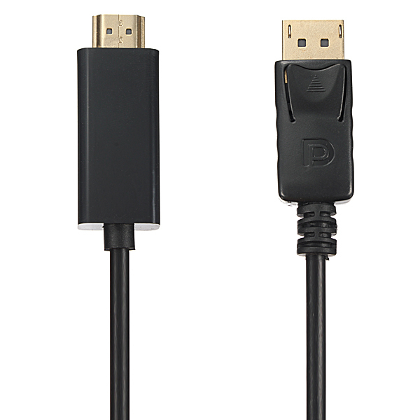 6FT 1.8M Display Port DP To HDMI Male 1.4V HDTV LCD PC 1080P Cable Adaptor Cord (Intl)