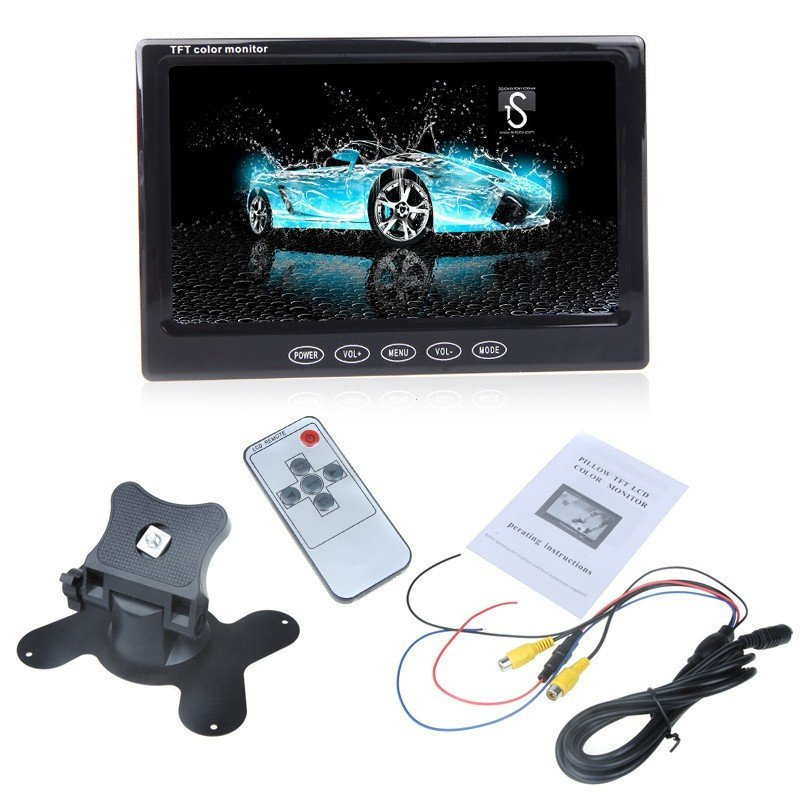7  TFT LCD Car Rearview Color Monitor for VCD DVD GPS Camera (Intl)