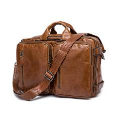 100% Genuine Leather Men Messenger Bags Business Bag Laptop Men Bags Men's Briefcase Tote Shoulder Laptop Men's Travel Bag - Intl