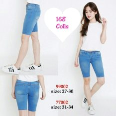168 Collection Celana Big Renata 3 Per4 Jeans Pant-Biru