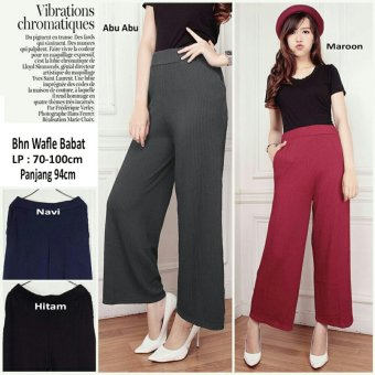 168 Collection Celana Diarella Kulot Long Pant-Abu