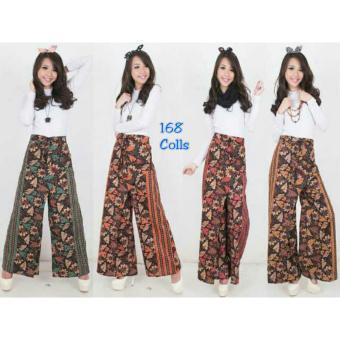 168 Collection Celana Gioni Kulot Batik Pant-Orange