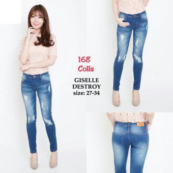 168 Collection Celana Gisca Jeans Pant-Biru