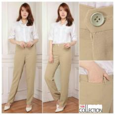 168 Collection Celana Kantor Office Series Long Pant-Cream