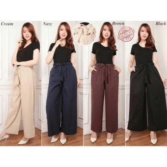 168 Collection Celana Kulot Rok Jumbo Stanley Long Pant-Navy