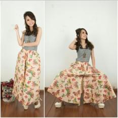 168 Collection Celana Panjang Kulot Kembang Kulot Jumbo Batik - Hijau