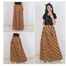 168 Collection Rok Maxi Tina Batik Long Skirt-Mocca