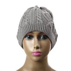 Merenda Rajutan Topi Hangat Musim Dingin Topi Cap Bobble Hat Untuk Source · Cap Tengkorak Wanita