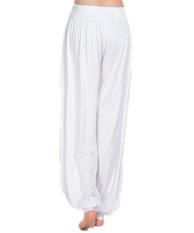 2015 New Women Casual Harem Pants High Waist Sport Pants Dance Club Wide Leg Loose Long Bloomers Trousers Plus Size White S-3XL