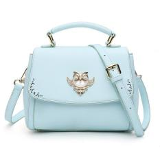 2016 Europe And The United States The New Lovely Oblique Satchel Summer Crystal Owl Small Single Shoulder Bag (Green) - Intl